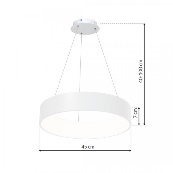 Lampa wisząca OHIO WHITE 24W LED