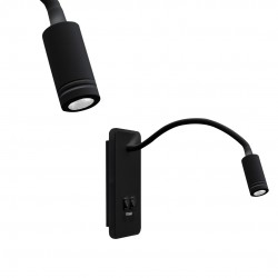 Lampka nocna BASE 8W+2W BLACK