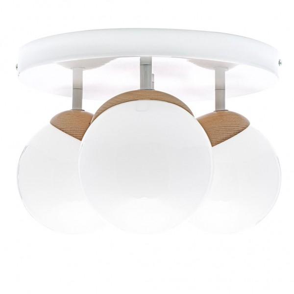 Lampa sufitowa SFERA WOOD 3xE14