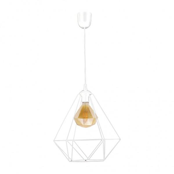 Lampa wisząca ALAMBRE WHITE 1xE27 4W żarówka w zestawie